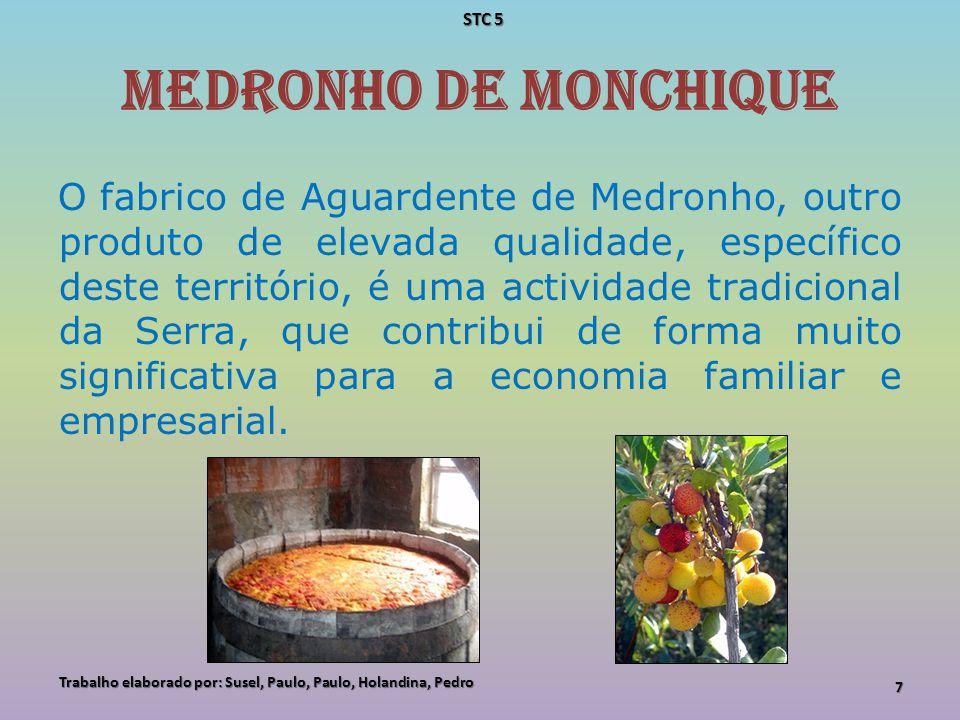 Medronho de Monchique O fabrico de Aguardente de Medronho, outro produto de elevada qualidade, específico deste território, é uma actividade tradicion
