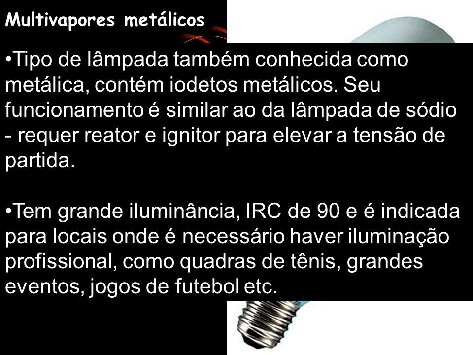 Endura - Fluorescente com bobina eletromagnética no lugar do filamento para fazer a indução do mercúrio (vida útil para aproximadamente 60 mil horas).
