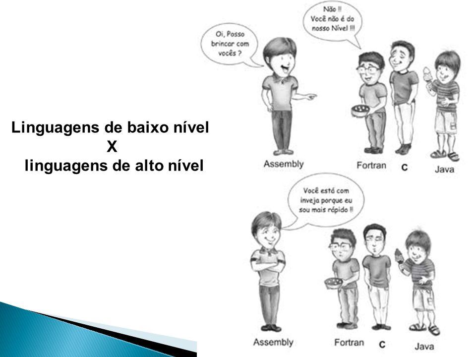 Linguagens de baixo nível X linguagens de alto nível