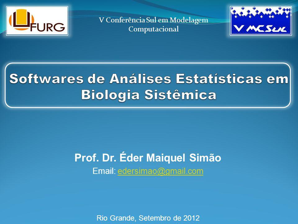 Prof. Dr. Éder Maiquel Simão Email: edersimao@gmail.comedersimao@gmail.com Rio Grande, Setembro de 2012 V Conferência Sul em Modelagem Computacional