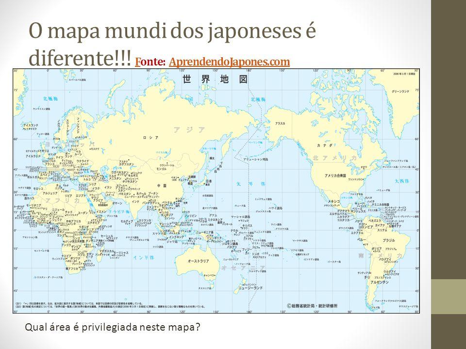 O mapa mundi dos japoneses é diferente!!.