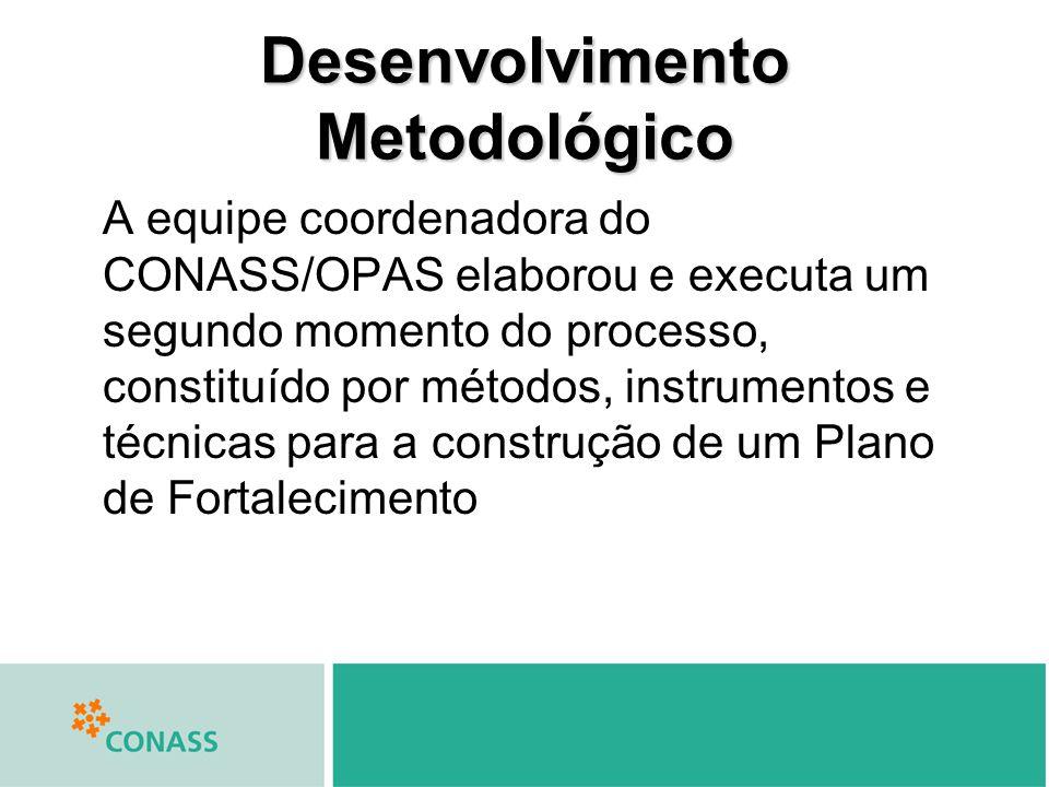 A equipe coordenadora do CONASS/OPAS elaborou e executa um segundo momento do processo, constituído por métodos, instrumentos e técnicas para a constr