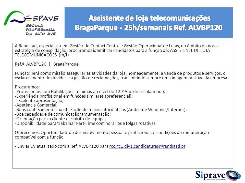MISSÃO: Responsável de manutenção (Facility management) residente no cliente localizado em Braga.