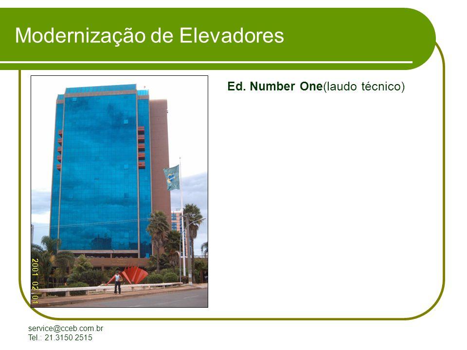service@cceb.com.br Tel.: 21.3150 2515 Modernização de Elevadores Ed. Number One(laudo técnico)