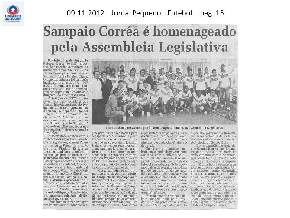 09.11.2012 – Jornal Pequeno– Futebol – pag. 15