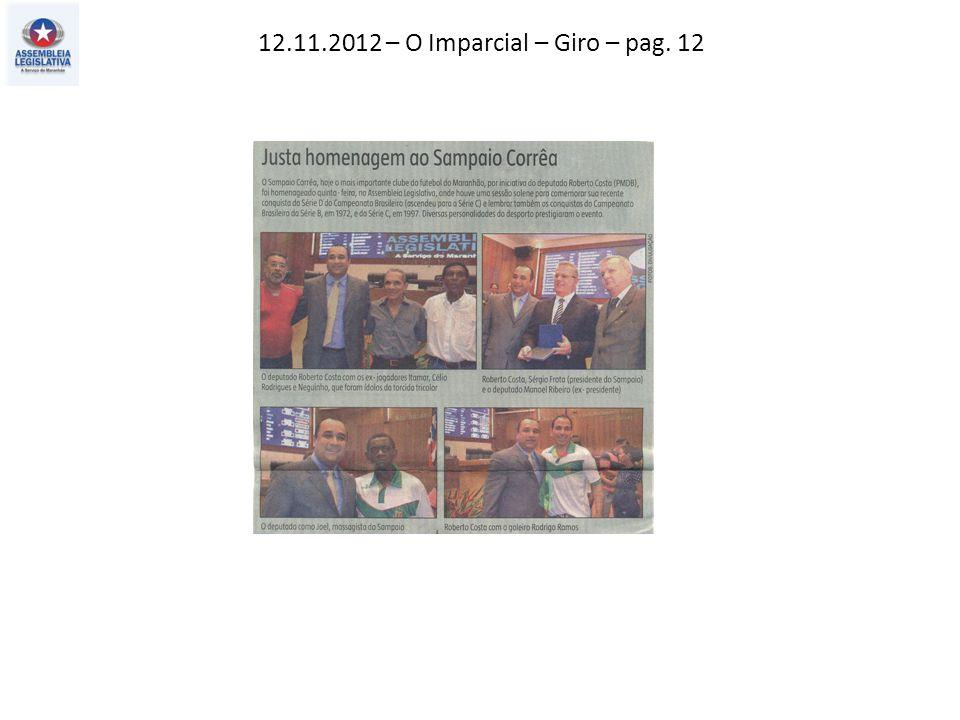 12.11.2012 – O Imparcial – Giro – pag. 12