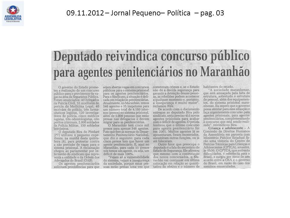 11.11.2012 – O Imparcial – Política – pag. 03