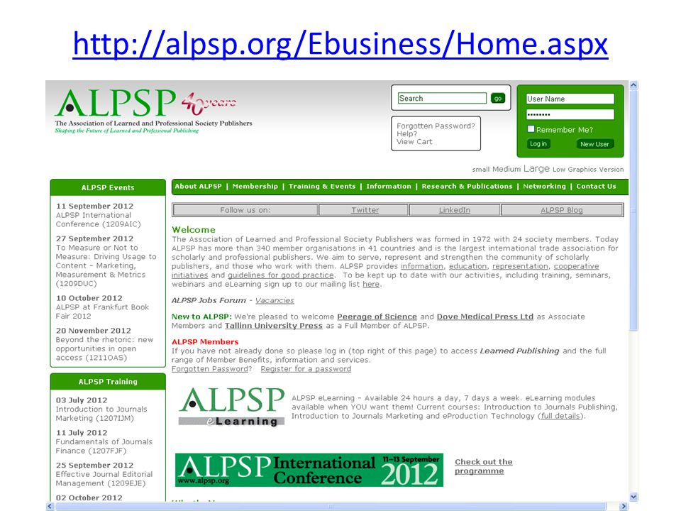 http://alpsp.org/Ebusiness/Home.aspx