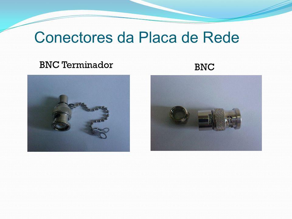 Conectores da Placa de Rede BNC Terminador BNC