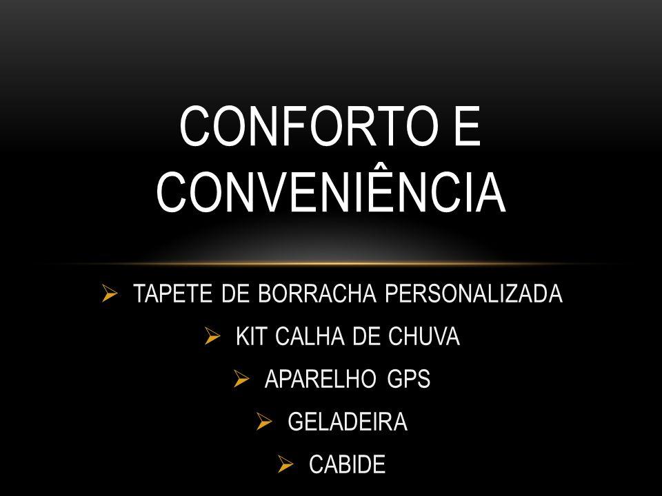 TAPETE DE BORRACHA PERSONALIZADA KIT CALHA DE CHUVA APARELHO GPS GELADEIRA CABIDE CONFORTO E CONVENIÊNCIA