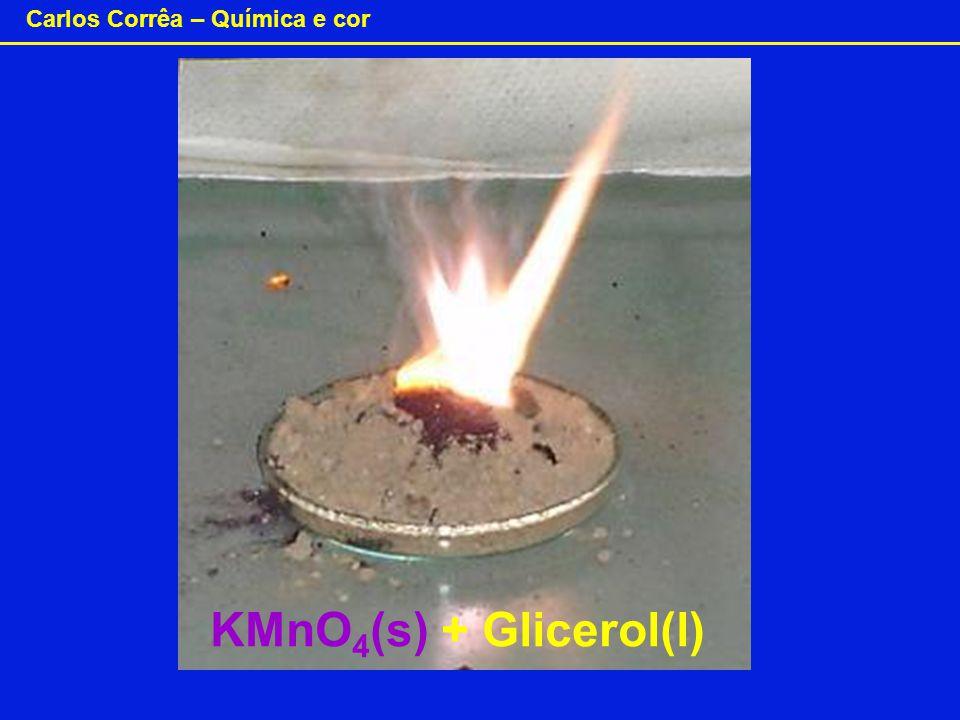 Carlos Corrêa – Química e cor KMnO 4 (s) + Glicerol(l)