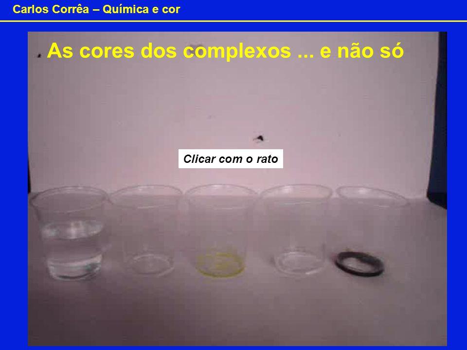 Carlos Corrêa – Química e cor Clicar com o rato As cores dos complexos... e não só