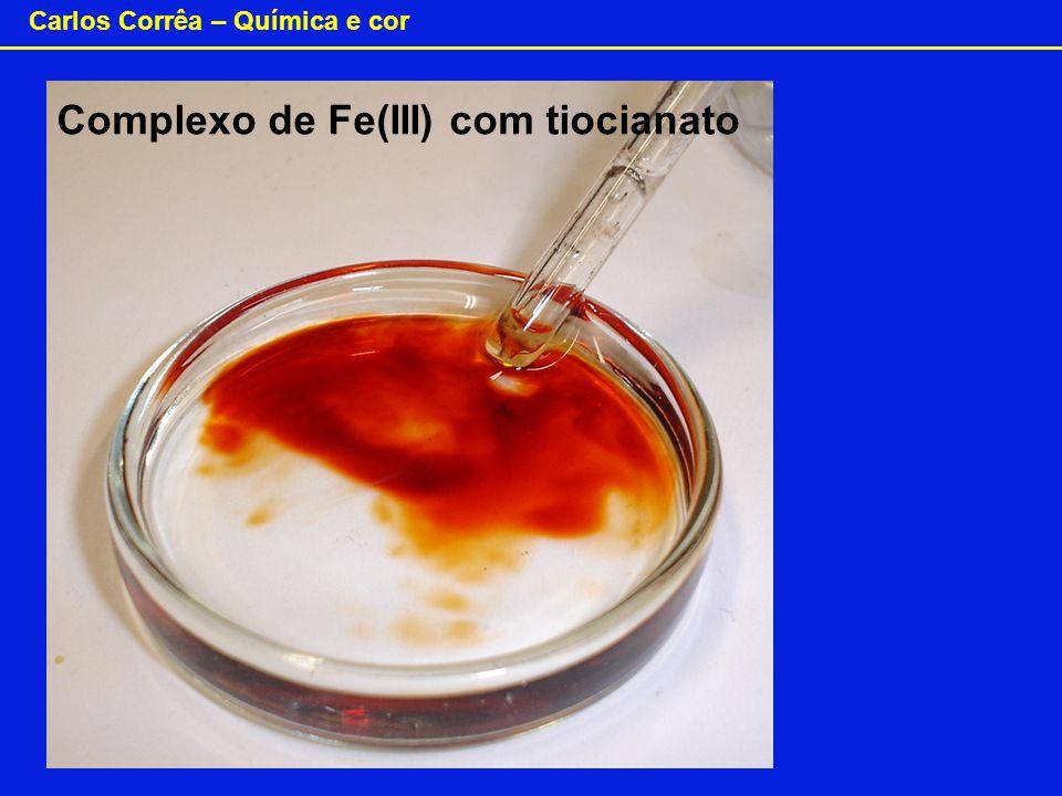 Carlos Corrêa – Química e cor Complexo de Fe(III) com tiocianato