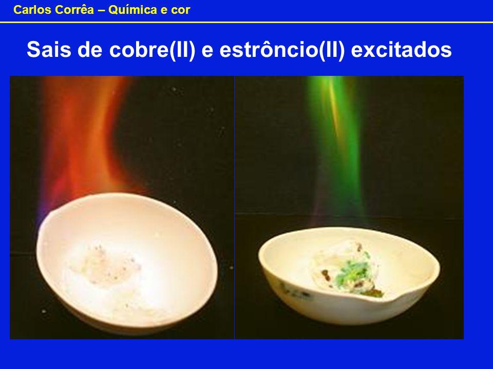 Sais de cobre(II) e estrôncio(II) excitados