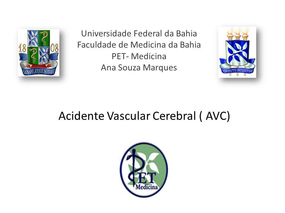 Universidade Federal da Bahia Faculdade de Medicina da Bahia PET- Medicina Ana Souza Marques Acidente Vascular Cerebral ( AVC)