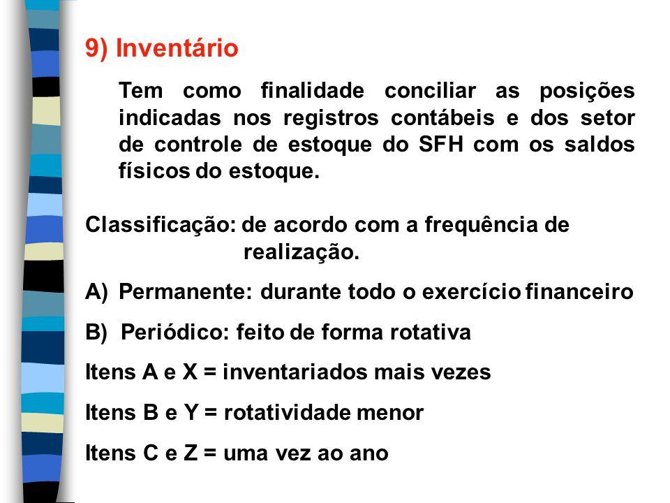 9) Inventário Tipos: - portas abertas - portas fechadas