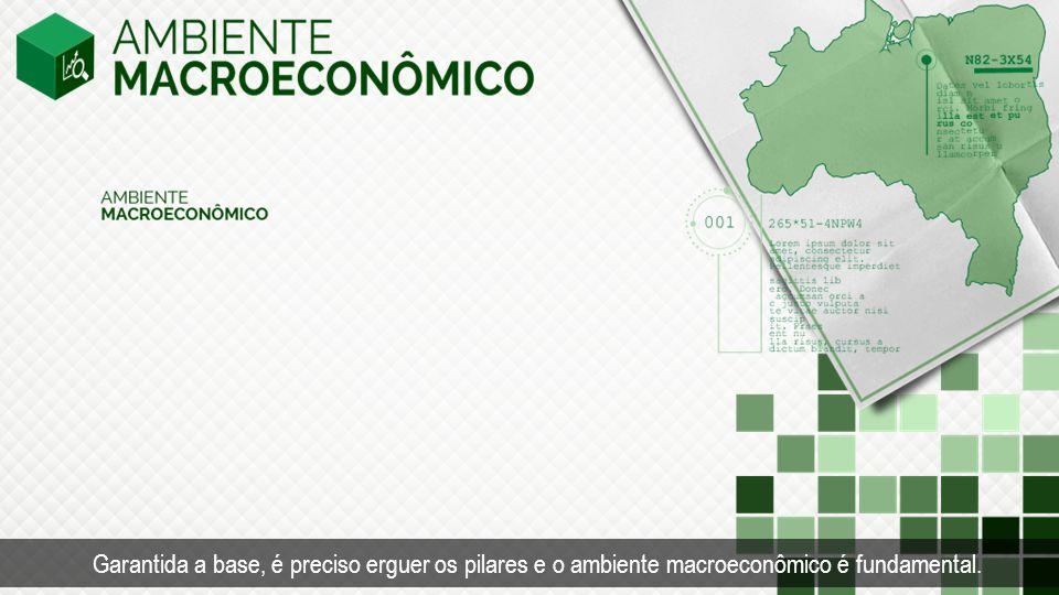 Garantida a base, é preciso erguer os pilares e o ambiente macroeconômico é fundamental.