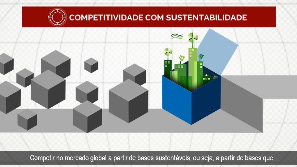 Competir no mercado global a partir de bases sustentáveis, ou seja, a partir de bases que