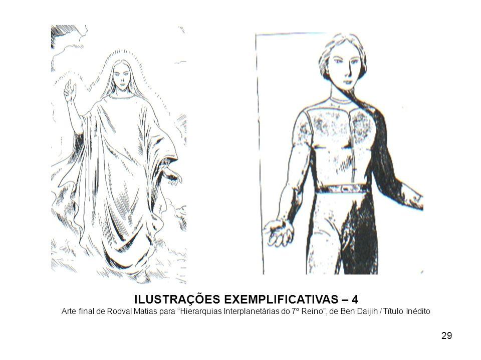 29 ILUSTRAÇÕES EXEMPLIFICATIVAS – 4 Arte final de Rodval Matias para Hierarquias Interplanetárias do 7º Reino, de Ben Daijih / Título Inédito