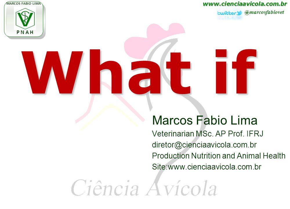 www.cienciaavicola.com.br @marcosfabiovet MARCOS FABIO LIMA P N A H Marcos Fabio Lima Veterinarian MSc. AP Prof. IFRJ diretor@cienciaavicola.com.br Pr