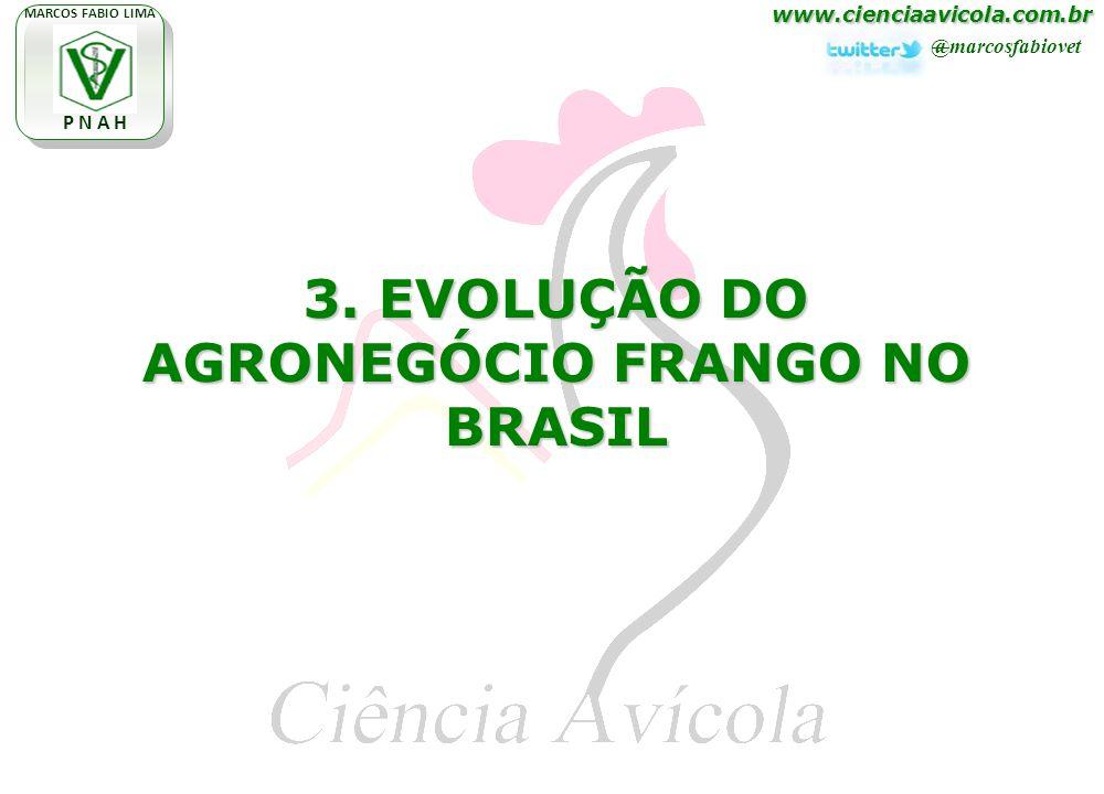 www.cienciaavicola.com.br @marcosfabiovet MARCOS FABIO LIMA P N A H 3. EVOLUÇÃO DO AGRONEGÓCIO FRANGO NO BRASIL