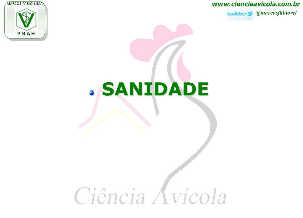 www.cienciaavicola.com.br @marcosfabiovet MARCOS FABIO LIMA P N A H SANIDADE SANIDADE