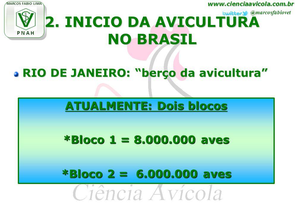www.cienciaavicola.com.br @marcosfabiovet MARCOS FABIO LIMA P N A H 2. INICIO DA AVICULTURA NO BRASIL RIO DE JANEIRO: berço da avicultura RIO DE JANEI