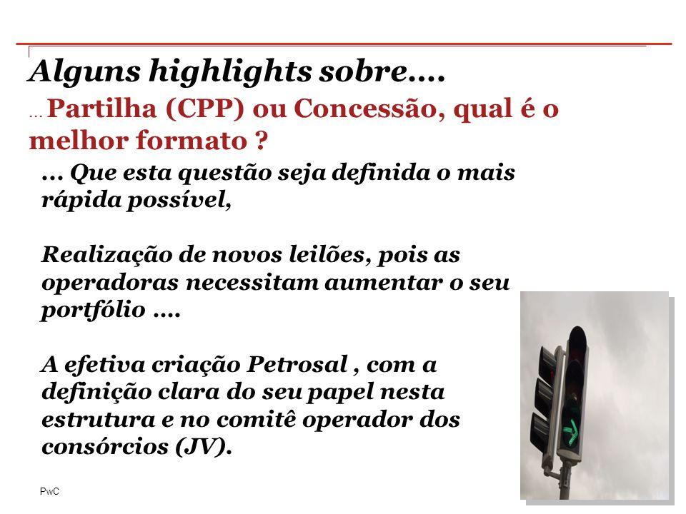 PwC Alguns highlights sobre….... Partilha (CPP) ou Concessão, qual é o melhor formato ?...