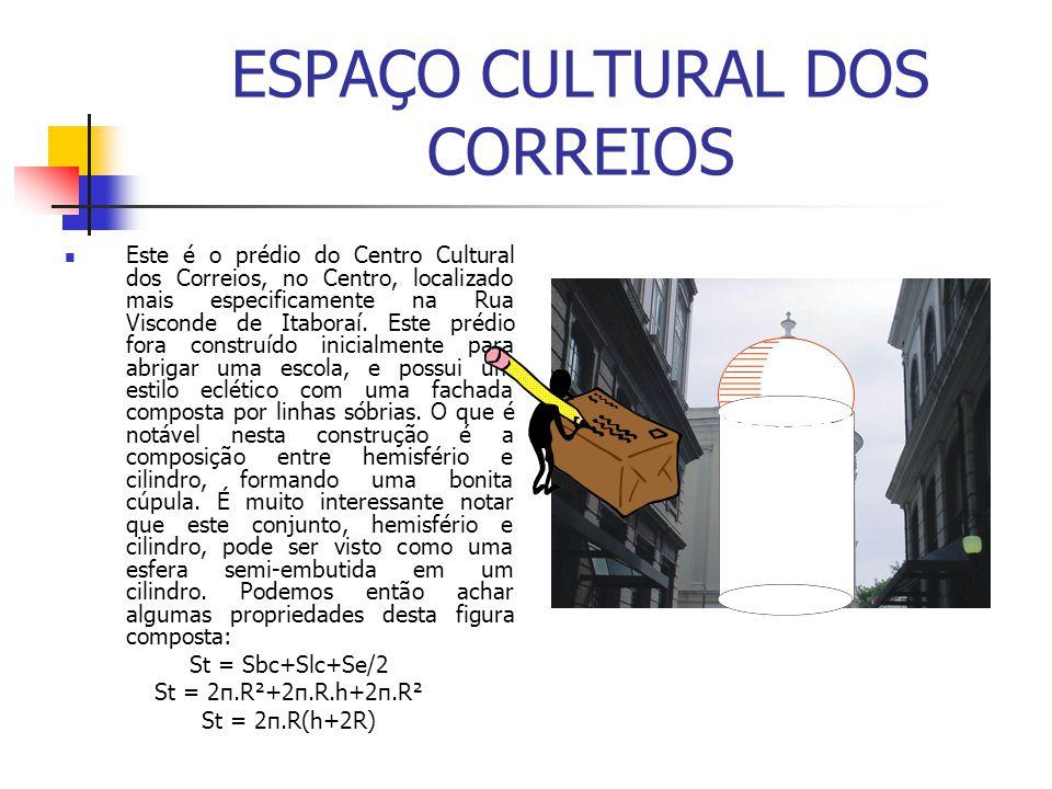 ESPAÇO CULTURAL DOS CORREIOS Este é o prédio do Centro Cultural dos Correios, no Centro, localizado mais especificamente na Rua Visconde de Itaboraí.