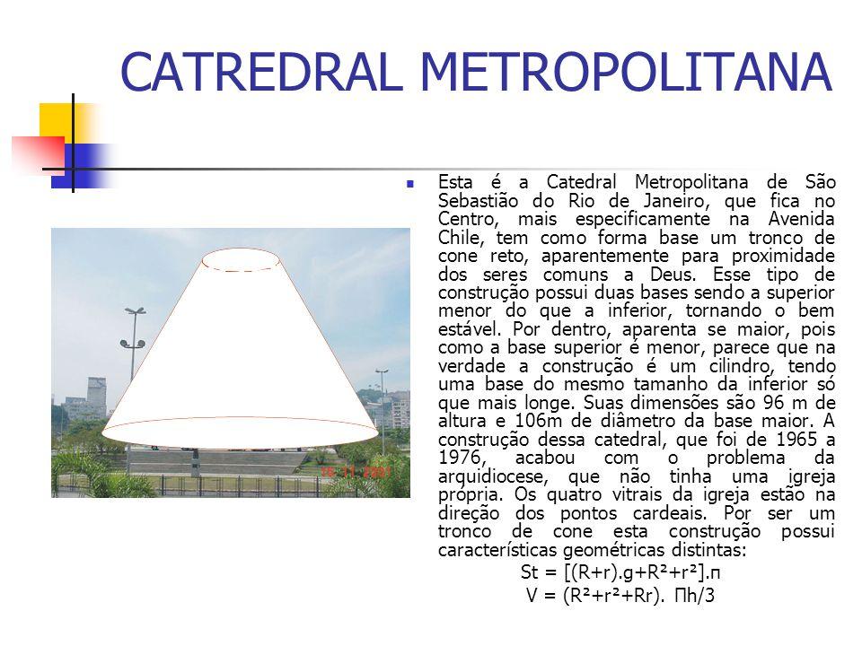 CATREDRAL METROPOLITANA Esta é a Catedral Metropolitana de São Sebastião do Rio de Janeiro, que fica no Centro, mais especificamente na Avenida Chile,