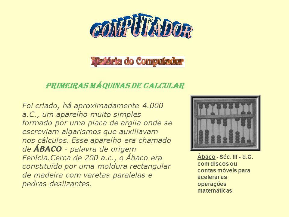 O Início da Era da Computação Já no ano de 1890, época do censo dos EUA, Hermann Hollerith percebeu que só conseguiria terminar de apurar os dados do censo quando já seria o tempo de se efectuar novo censo (1900).