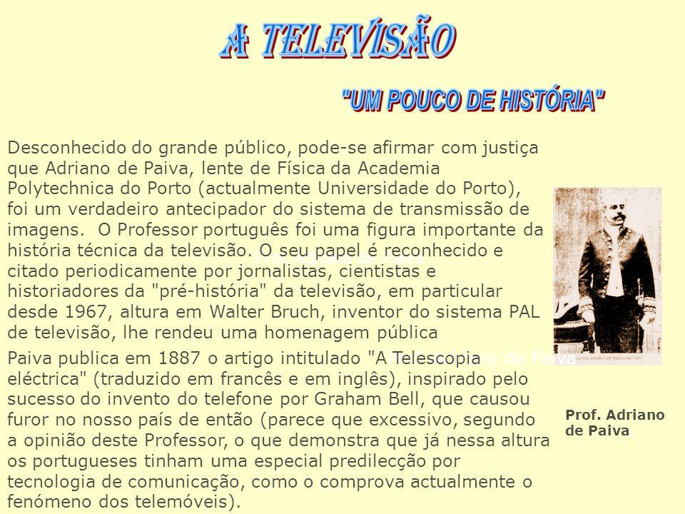 Prof. Adriano de Paiva Desconhecido do grande público, pode-se afirmar com justiça que Adriano de Paiva, lente de Física da Academia Polytechnica do P