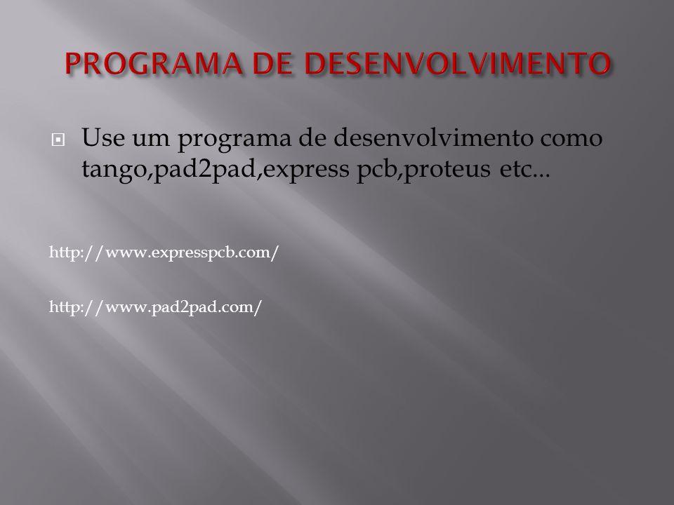 Use um programa de desenvolvimento como tango,pad2pad,express pcb,proteus etc...