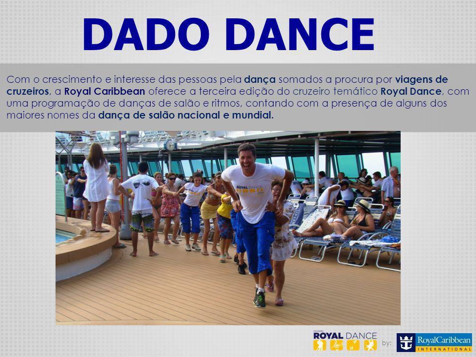 by: DADO DANCE Com o crescimento e interesse das pessoas pela dança somados a procura por viagens de cruzeiros, a Royal Caribbean oferece a terceira e