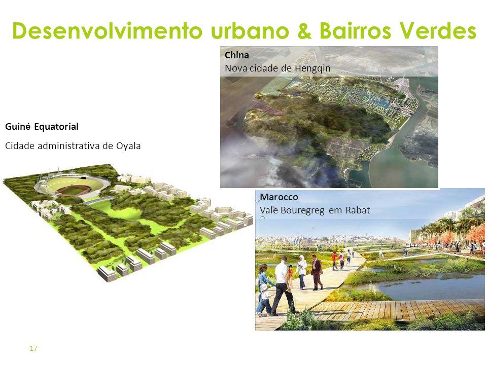 17 Marocco Vale Bouregreg em Rabat Guiné Equatorial Cidade administrativa de Oyala China Nova cidade de Hengqin Desenvolvimento urbano & Bairros Verde