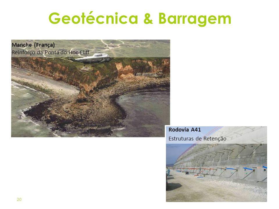 20 Manche (França) Reinforço da Ponta do Hoc Cliff Rodovia A41 Estruturas de Retenção Geotécnica & Barragem