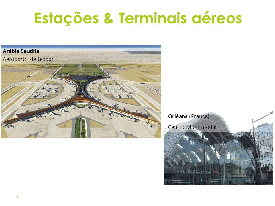 5 Orléans (França) Centro Multi-modal Arábia Saudita Aeroporto de Jeddah Estações & Terminais aéreos