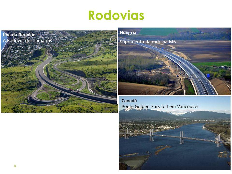 8 Ilha da Reunião A Rodovia dos Tamarins Rodovias Canadá Ponte Golden Ears Toll em Vancouver Hungria Suprimento da rodovia M6