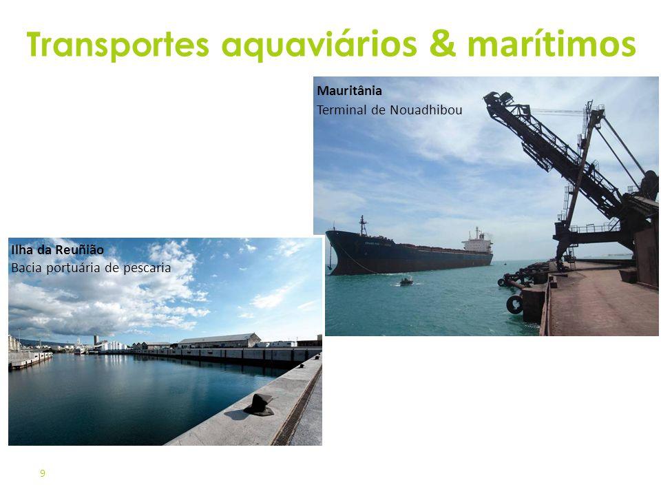 9 Mauritânia Terminal de Nouadhibou Ilha da Reuñião Bacia portuária de pescaria Transportes aquaviá rios & mar í timos