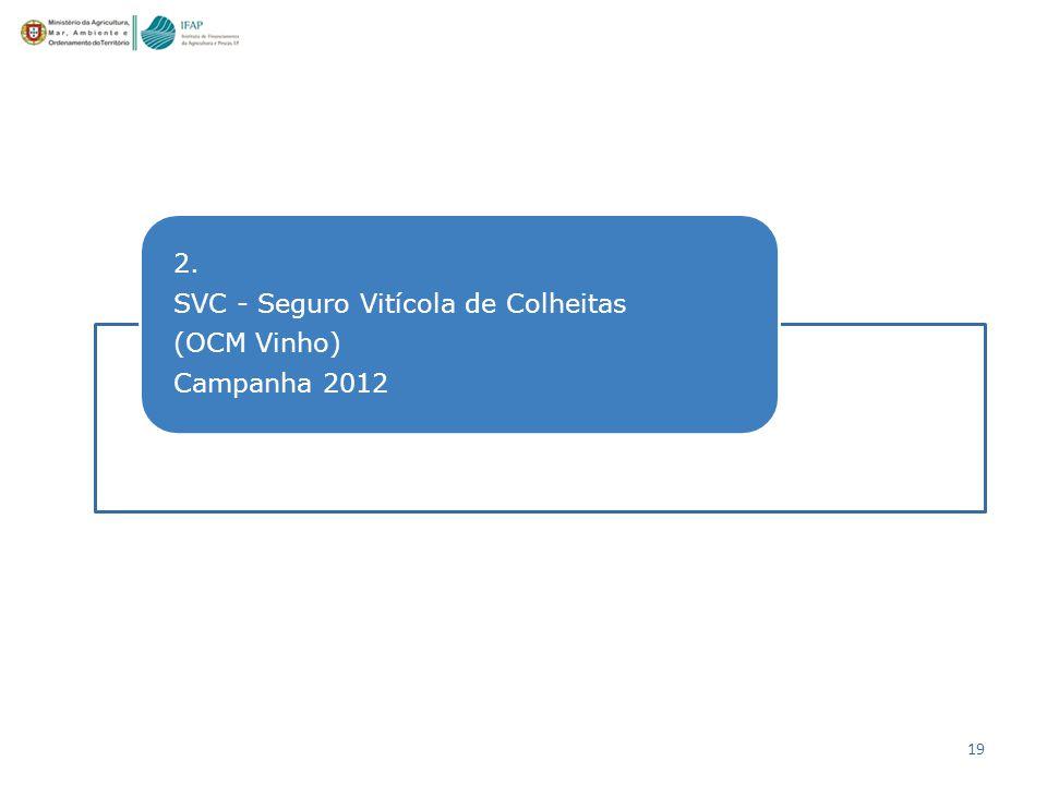 19 2. SVC - Seguro Vitícola de Colheitas (OCM Vinho) Campanha 2012