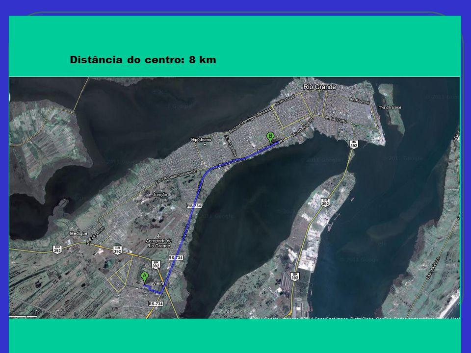 Distância do centro: 8 km