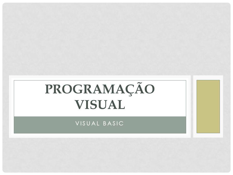 INTRODUÇÃO O visual Basic e uma linguagem de programação para windows, baseada em eventos e em objectos.