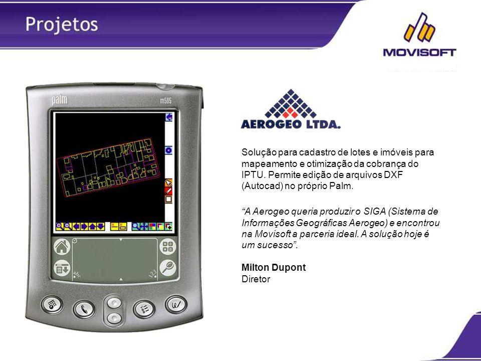 Solução para cadastro de lotes e imóveis para mapeamento e otimização da cobrança do IPTU. Permite edição de arquivos DXF (Autocad) no próprio Palm. A