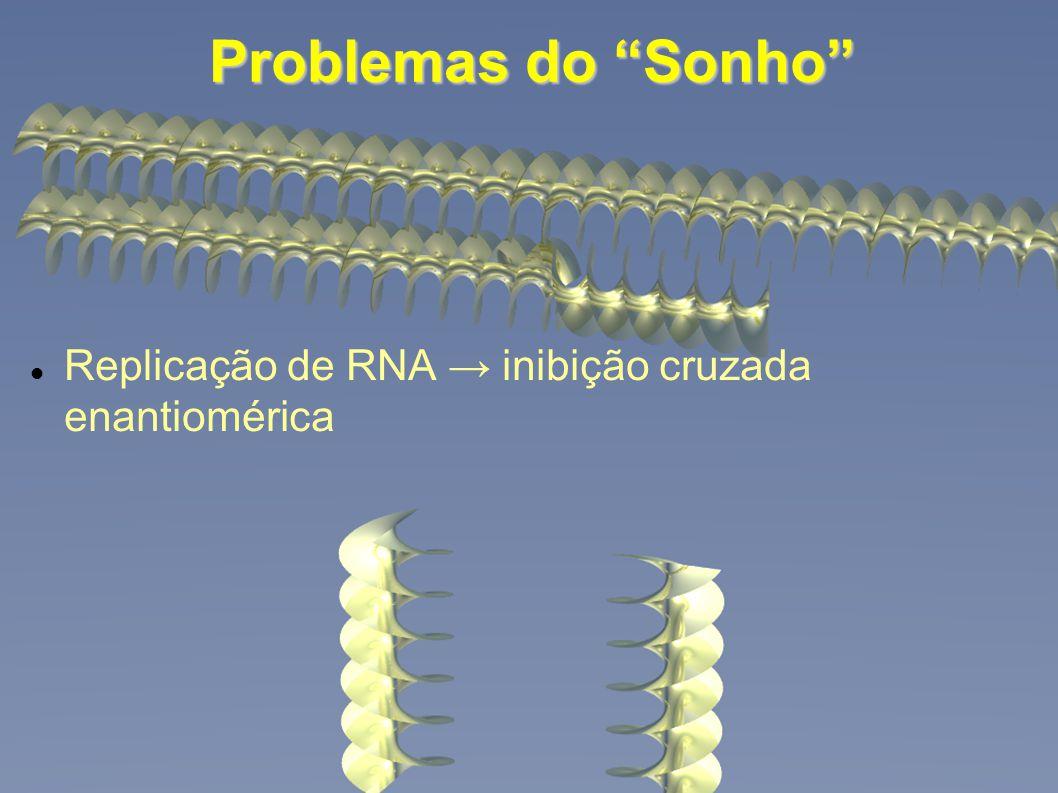 Problemas do Sonho Replicação de RNA inibição cruzada enantiomérica
