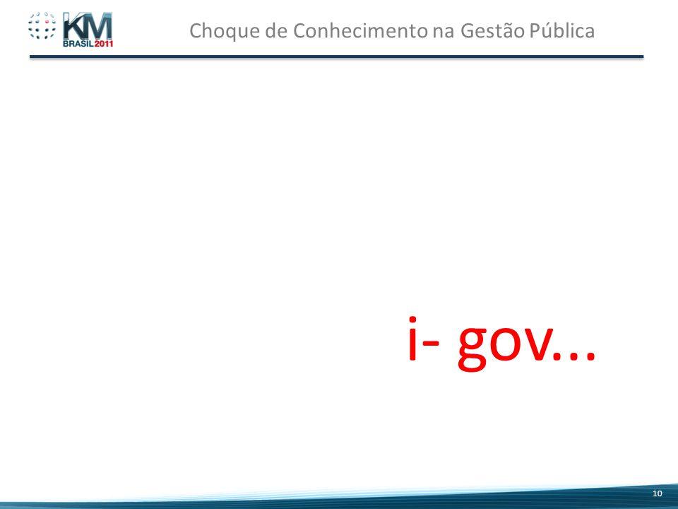 Choque de Conhecimento na Gestão Pública 10 i- gov...
