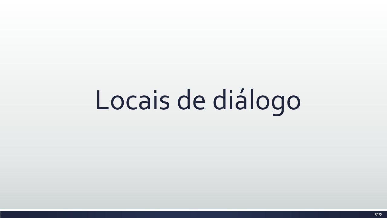 Locais de diálogo 17:15
