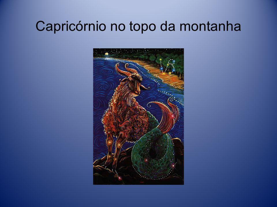 Capricórnio no topo da montanha
