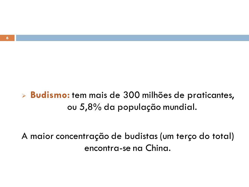 6 Budismo: tem mais de 300 milhões de praticantes, ou 5,8% da população mundial.