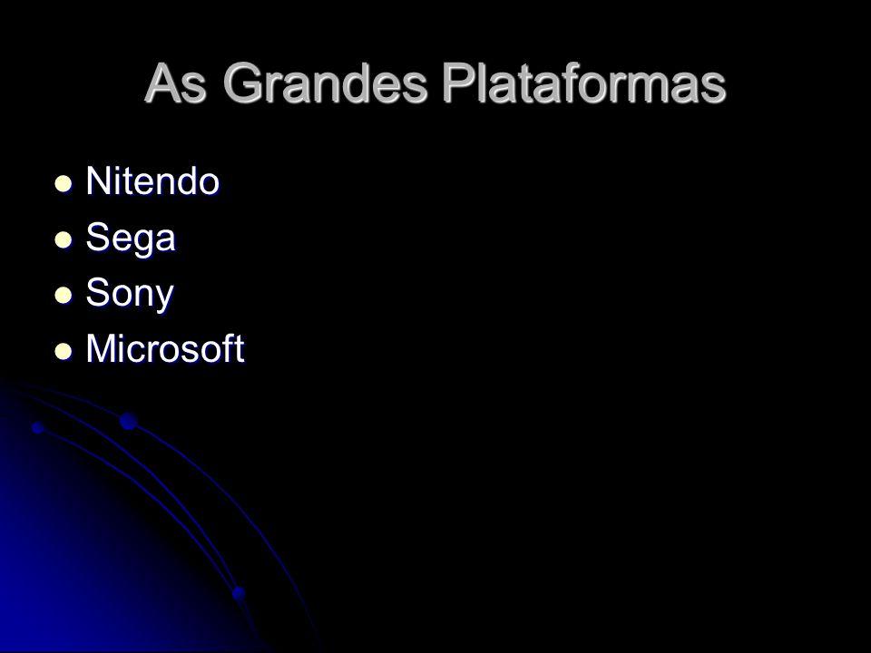 As Grandes Plataformas Nitendo Nitendo Sega Sega Sony Sony Microsoft Microsoft