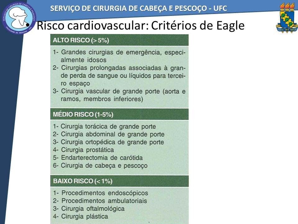 Risco cardiovascular: Critérios de Eagle